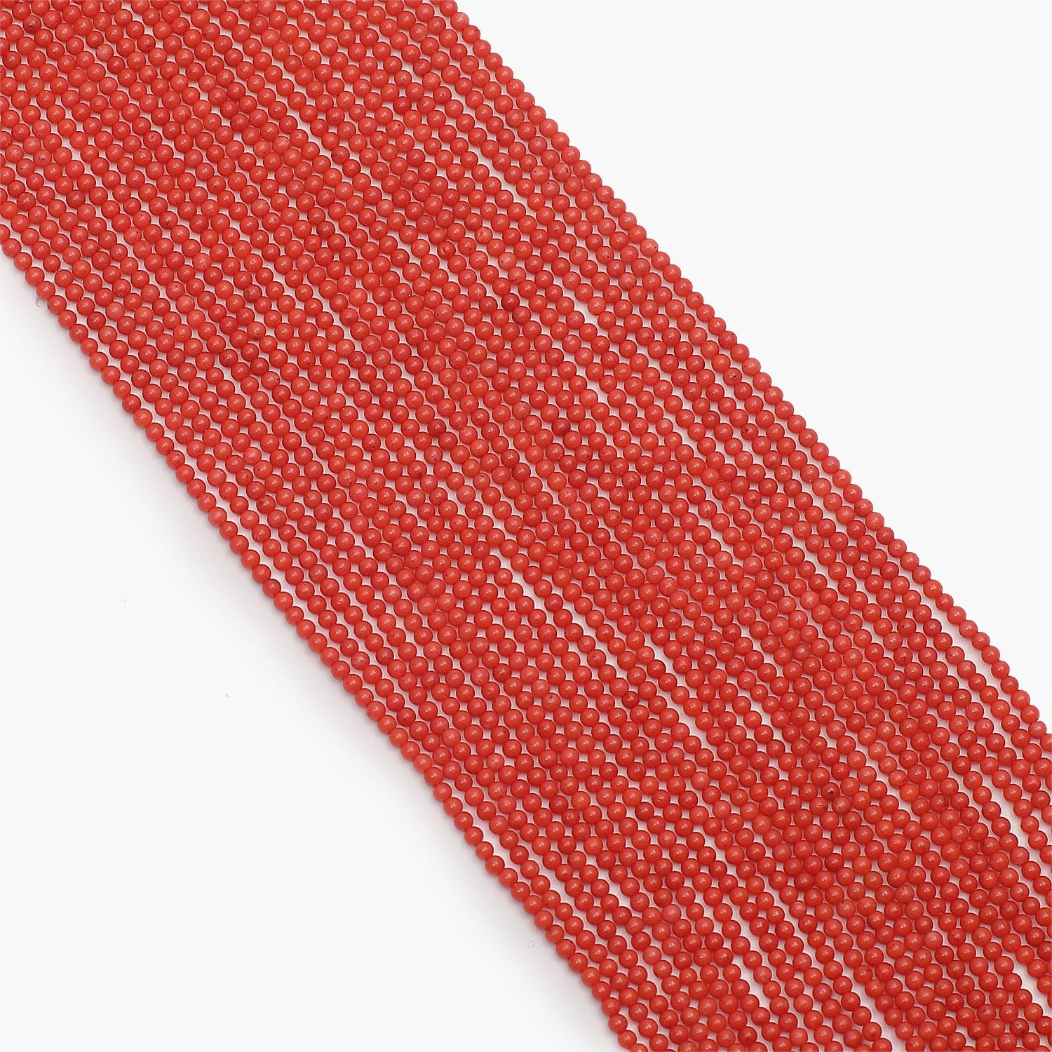 Taiwan Red Coral Semi Precious Gemstone Beads- Sold Per Strand