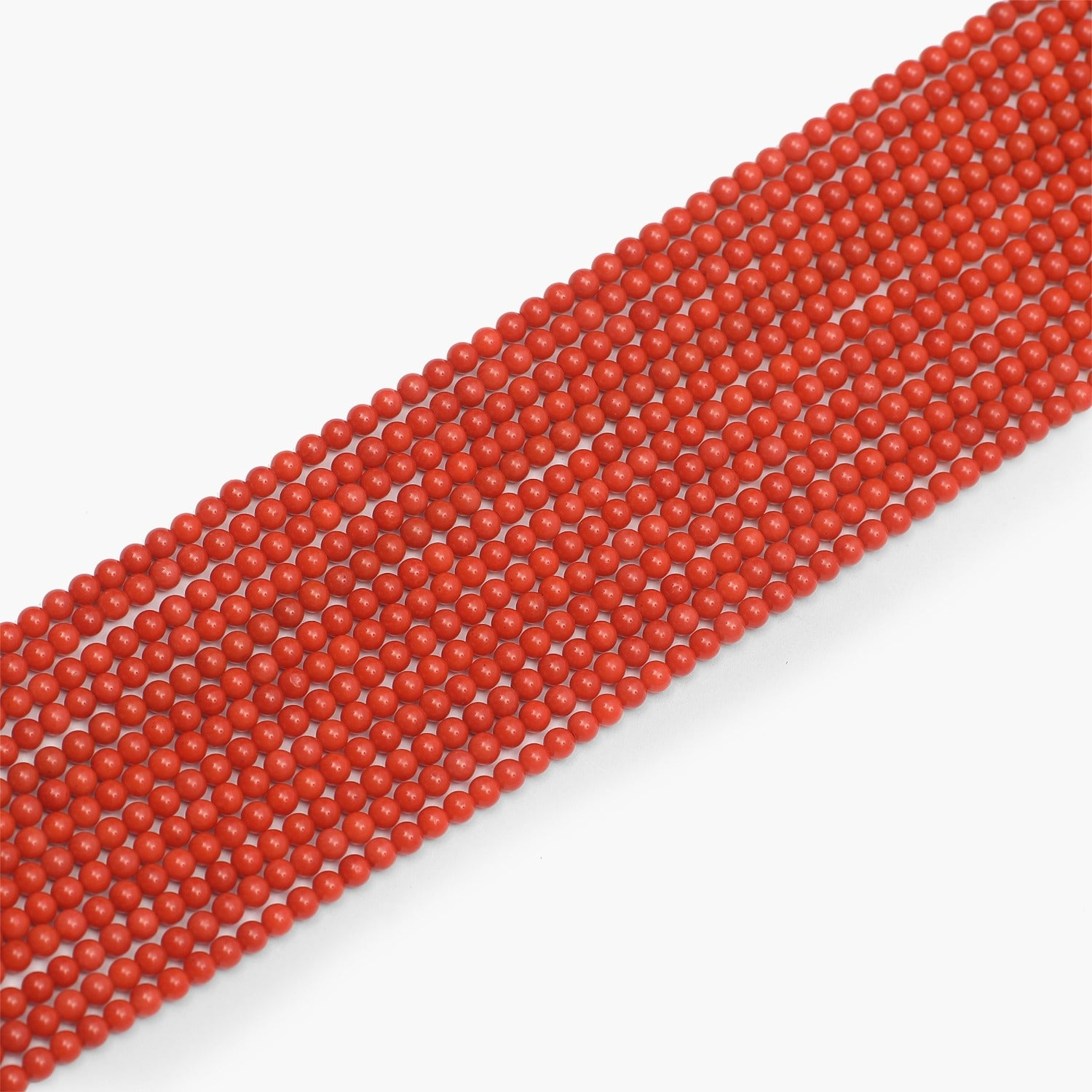 Taiwan Red Coral Semi Precious Gemstone Beads 4.5mm- Sold Per Strand