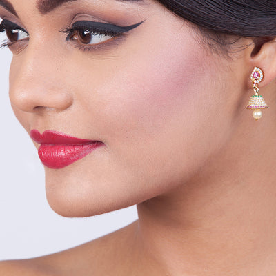 Dasmaya Nakshatra CZ Jhumka Earrings