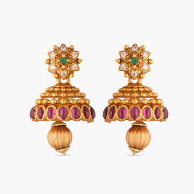 Kusum Antique Jhumka Earrings