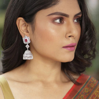Aalia Nakshatra CZ Jhumka Earrings