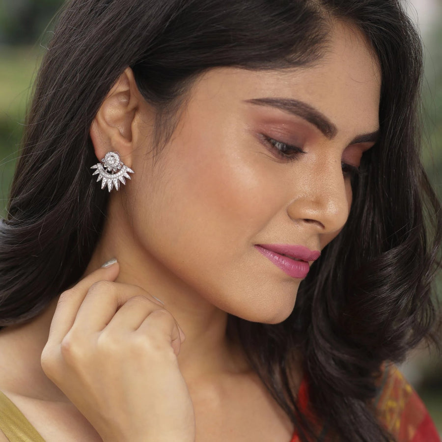 Soma Nakshatra CZ  Earrings by Tarinika