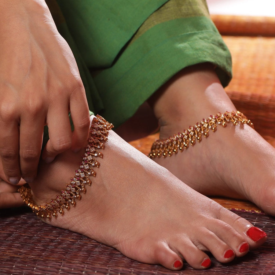 Sadaf Antique Anklets