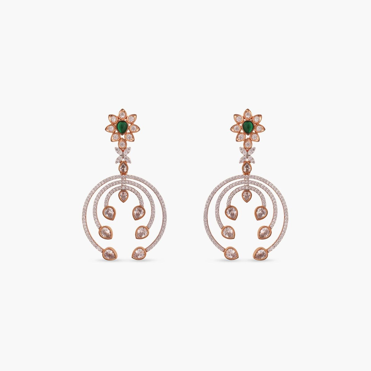 Surya Nakshatra CZ Earrings