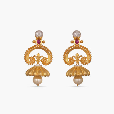 Pranjal Antique Earrings by Tarinika
