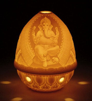 Lladro Lithophane Votive Light candle - Ganesha
