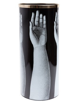 Fornasetti umbrella stand Mani black and white