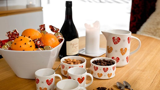 Christmas set small mugs for mulled wine or espresso