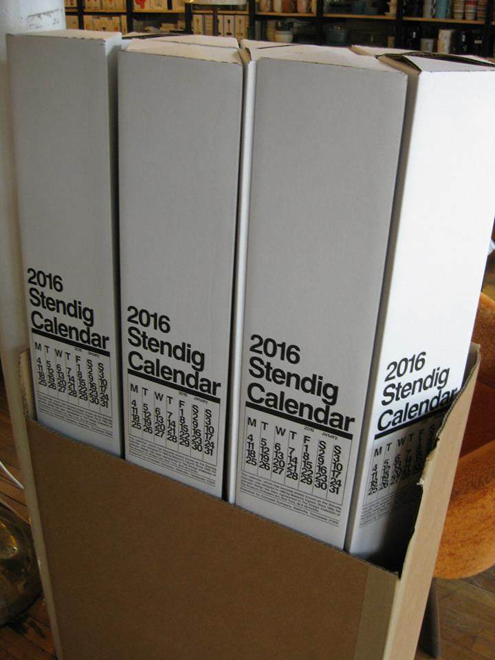 *** PRE-ORDER *** Stendig Calendar 2021 by Massimo Vigenelli Large Black and White
