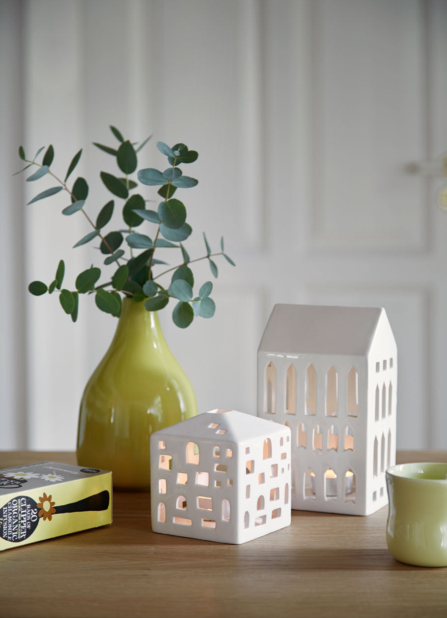 Kähler Design Urbania Votive Candle House Pantheon White