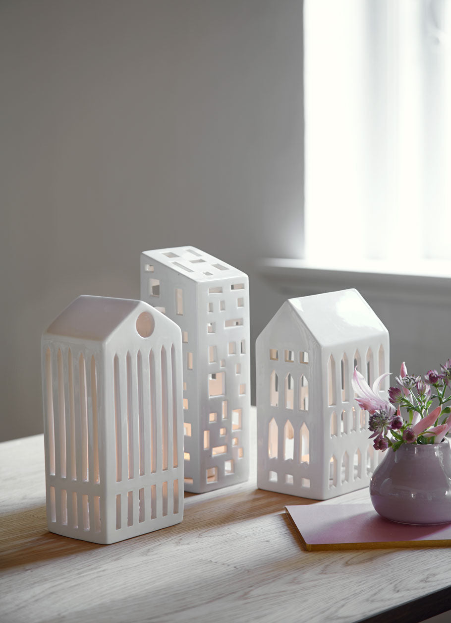 Kähler Design Urbania Votive Candle House Church White