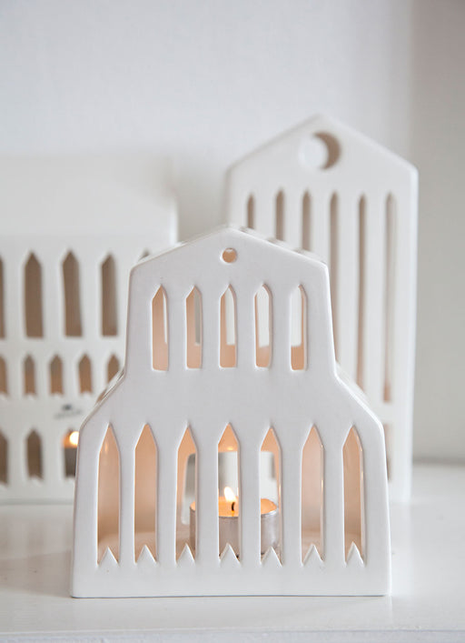 Kähler Design Urbania Votive Candle House Basilica White