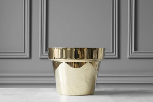 SKULTUNA Flower Pot Medium, polished