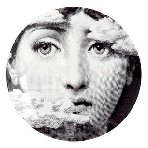 Fornasetti plate Theme & Variations series no 139