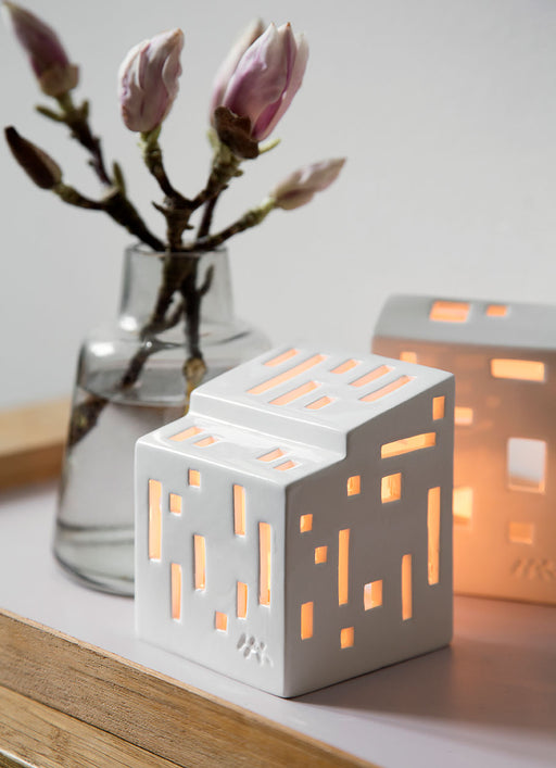 Kähler Design Urbania Votive Candle House Moderna White