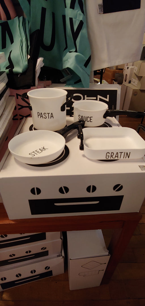 Design Letters Gift box cook set for Children (pots pans stove)