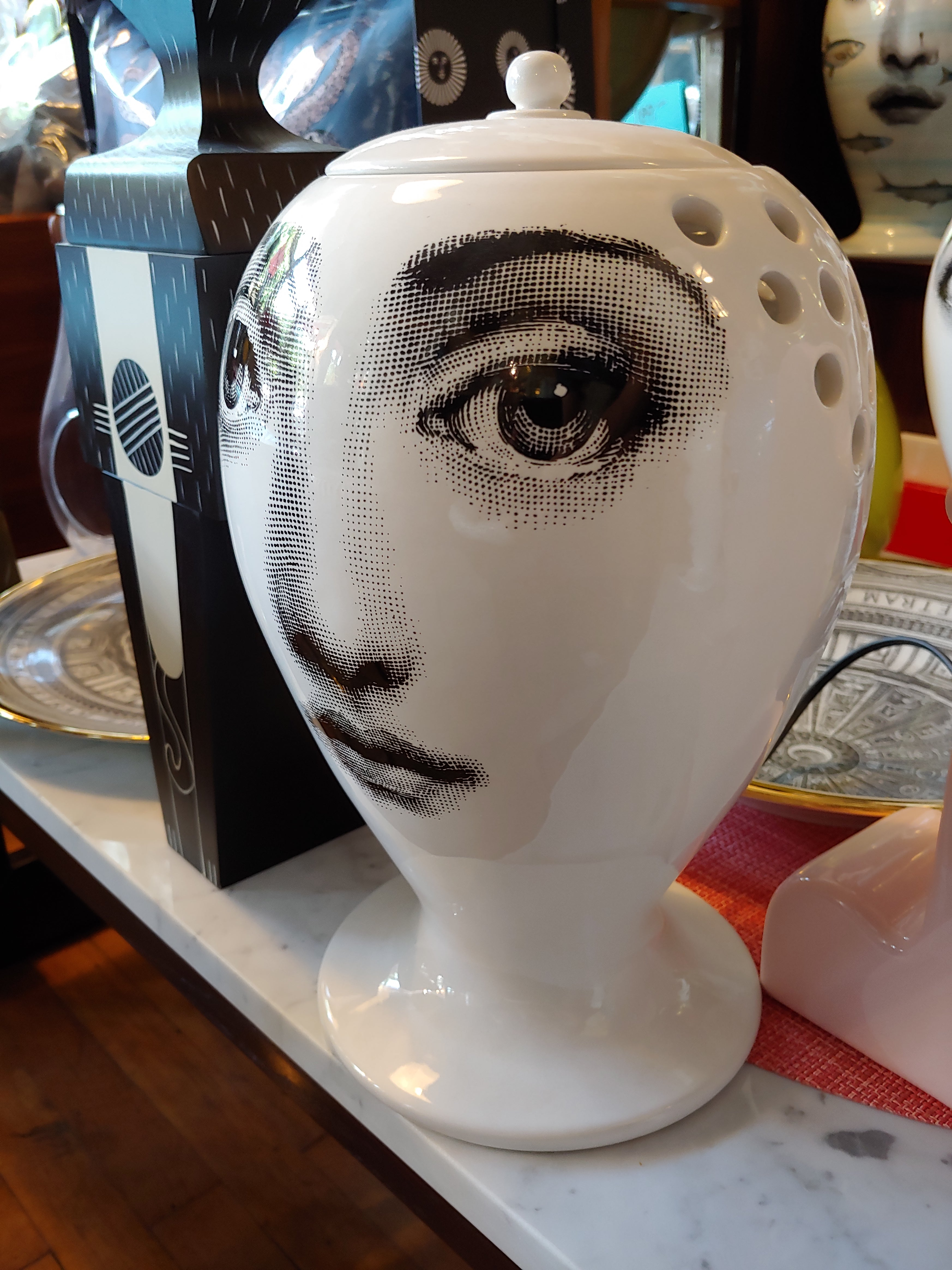 Fornasetti limited edition vase / jar Lamp