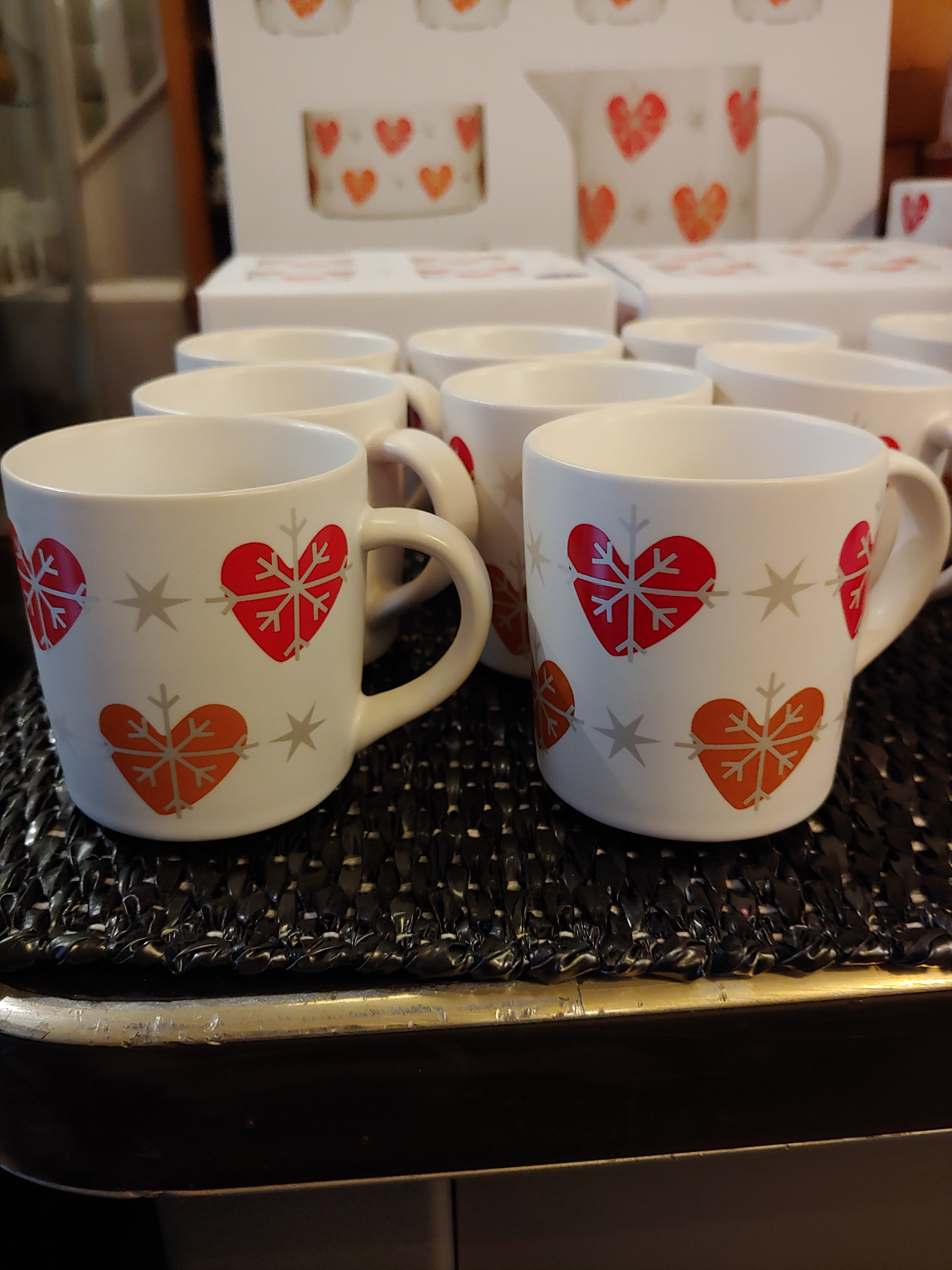 Single Christmas small mug for mulled wine or espresso