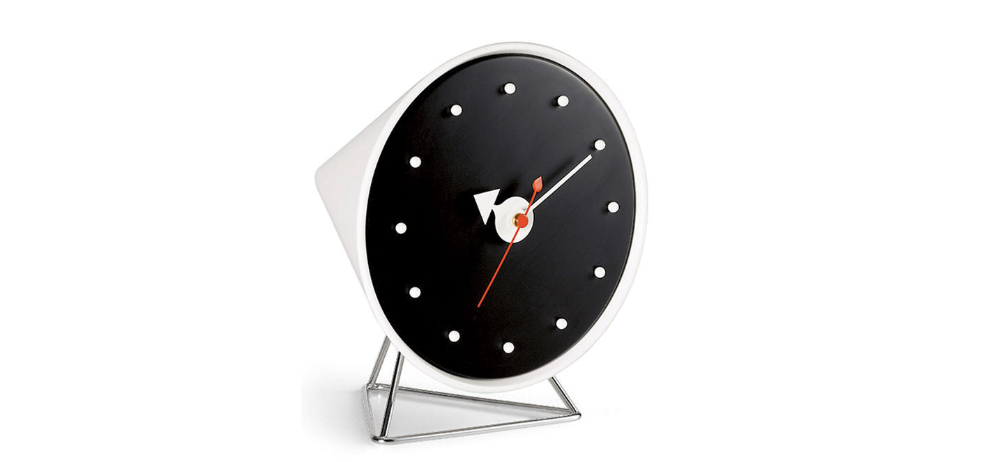 Cone desk clock by George Nelson for Vitra