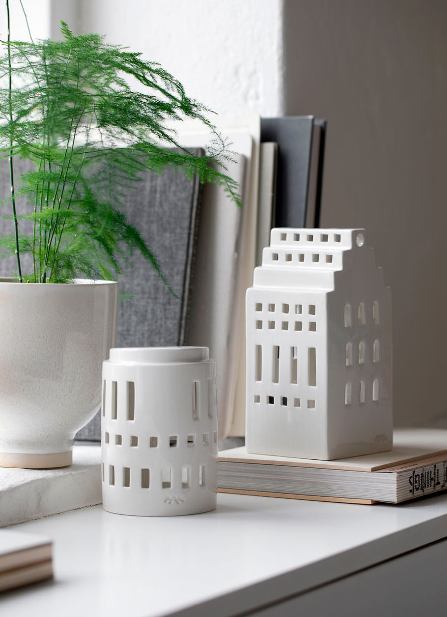 Kähler Design Urbania Votive Candle House Little Tower White