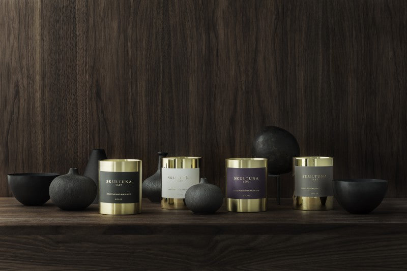 SKULTUNA SCENTED CANDLES - BLACKWOOD