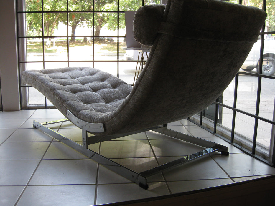 Vintage chrome chaisse lounge from 1970's UK