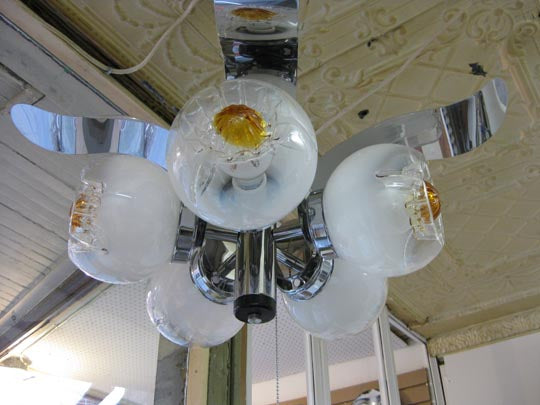 Vintage 1960 Mazzega chandelier from Italy.
