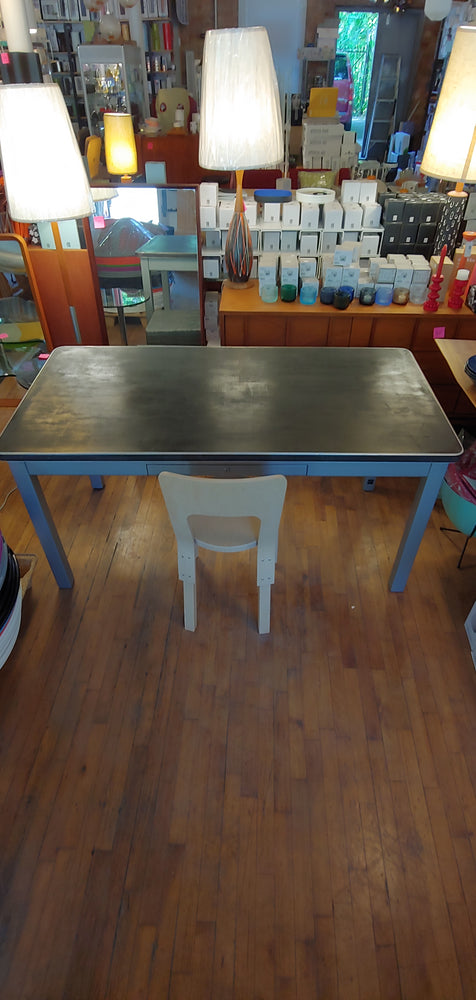 Mid century grey black metal desk