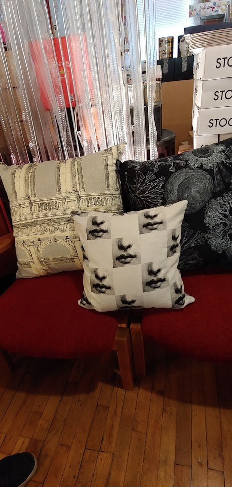 "Fornasetti large pillows 24""x24"""