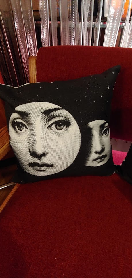 "Fornasetti Pillow 16"" x 16"" Moon"