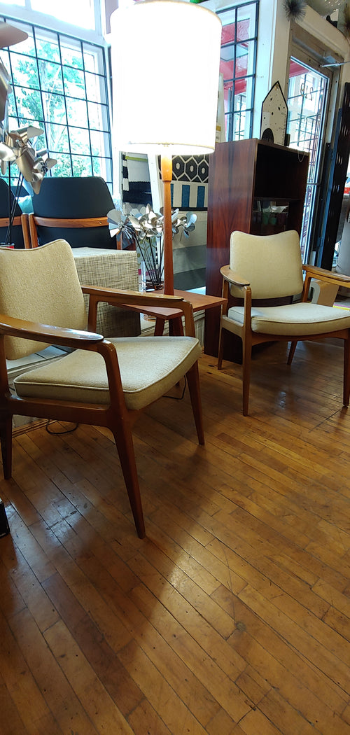 Vintage pair Sigvard Bernadotte for France & Daverkosen Import by John Stuart chairs