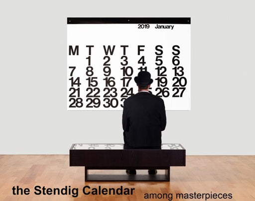 Stendig Calendar 2019 by Massimo Vigenelli Large Black and White