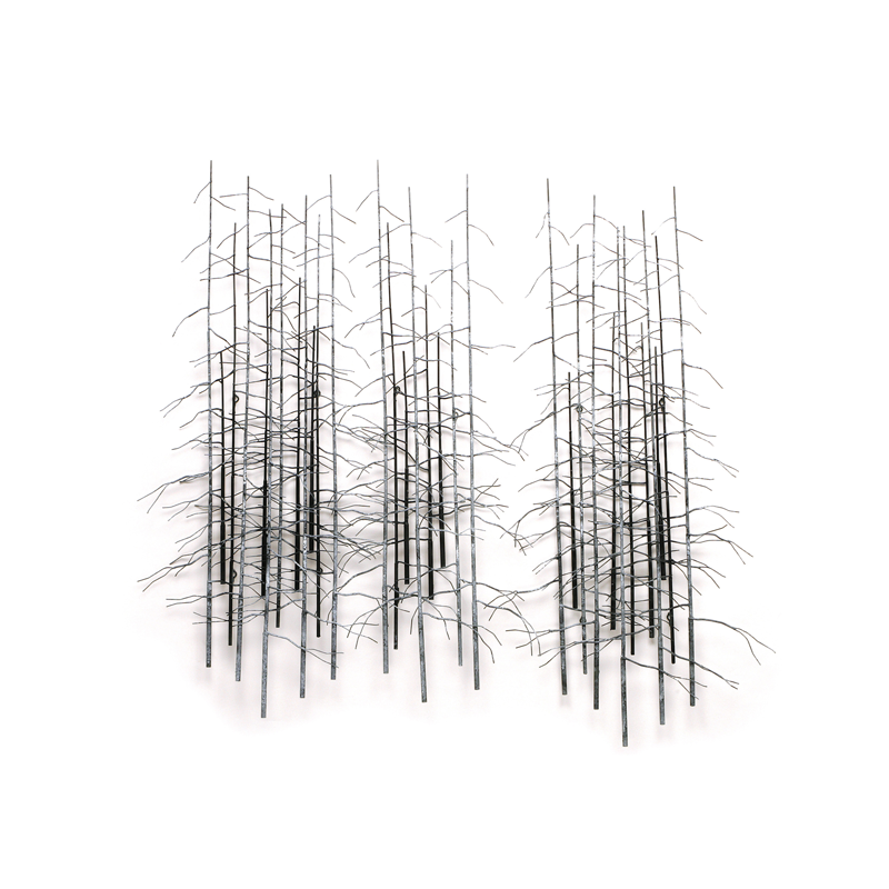 Curtis Jere metal wall art winter trees (set of 3)