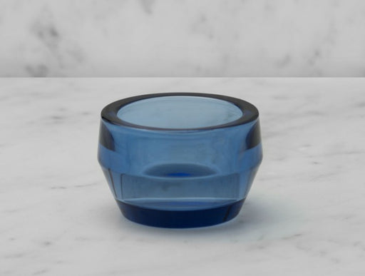 SKULTUNA Candle Holder Kin Glass, Single Blue