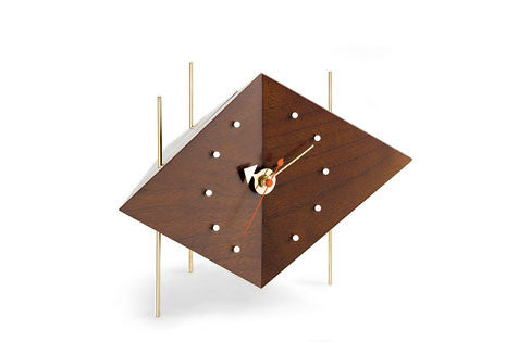 Diamond desk clock by George Nelson for Vitra