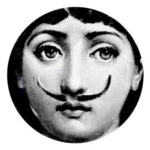 Fornasetti plate Theme & Variations series no 021