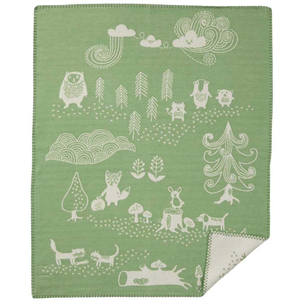 Klippan blanket 70 x 90cm. brushed organic cotton Little bear (3 colours)