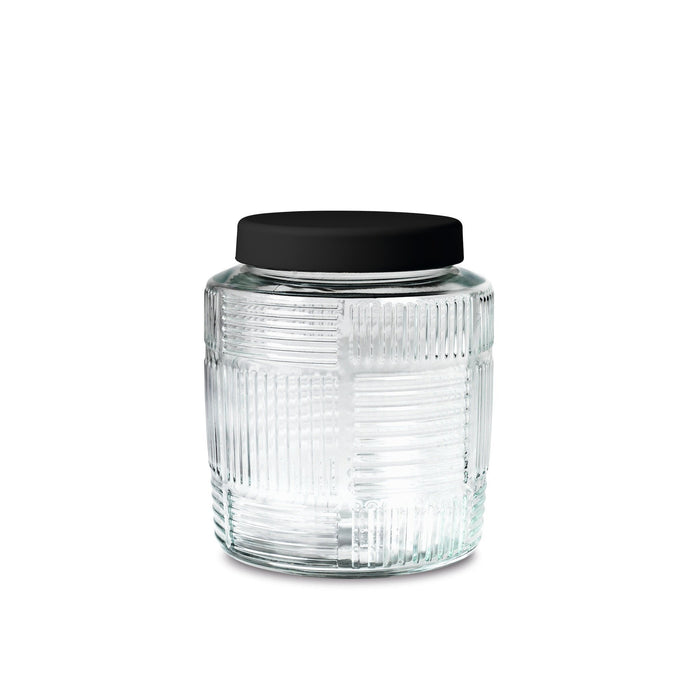 Storage Jar - Black lid, 1 Qt.