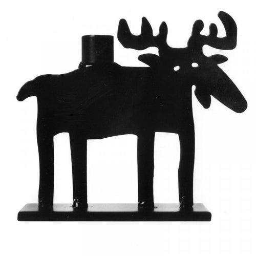 Bengt & Lotta - Moose Big Candle Holder Black