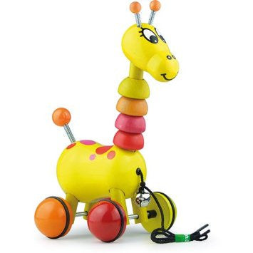 Paf the giraffe pull toy