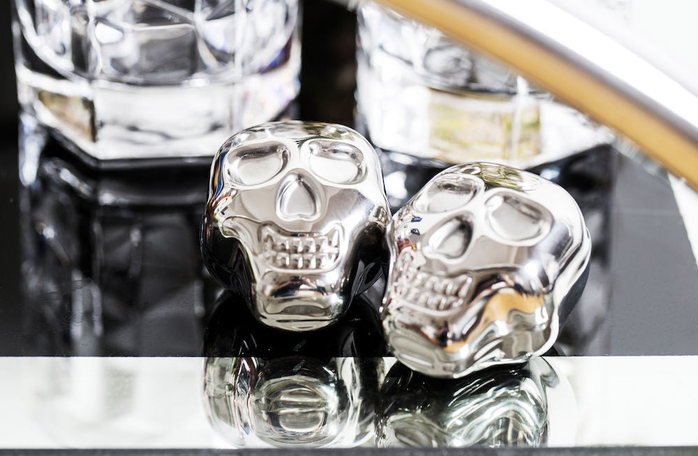 Skull icecube drink cooler stainless steel