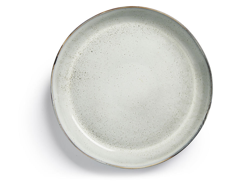 Nature serving plate, light grey