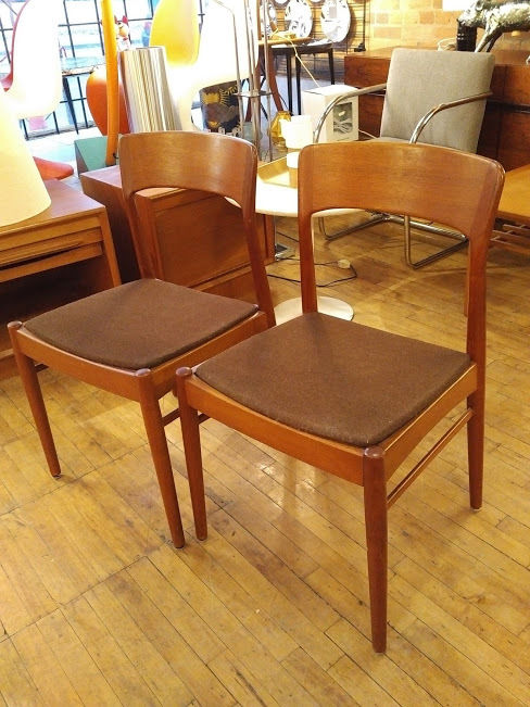 Vintage Kai Kristensen teak dining chairs (set of two)