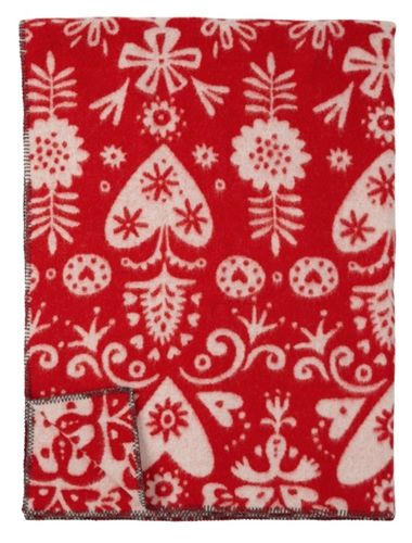 Klippan wool blanket red Joy