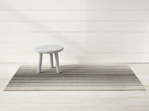 Chilewich Block Stripe Shag Mat in Taupe
