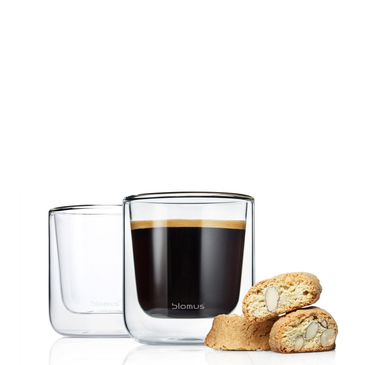 2 pc Coffee Glass set NERO