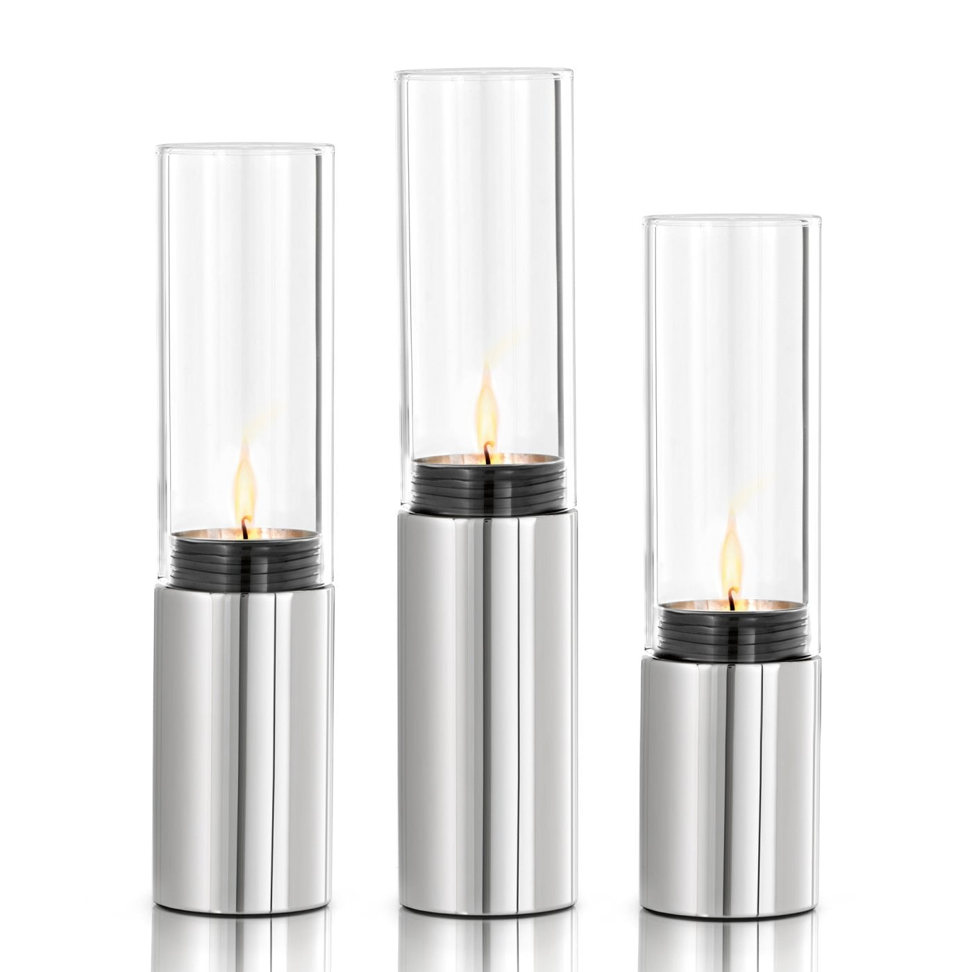 3 pc Tealight Holder set Stainless steel polished FARO