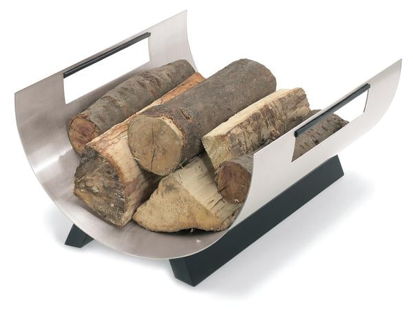 Blomus Stainless Fireplace Wood Rack - Round