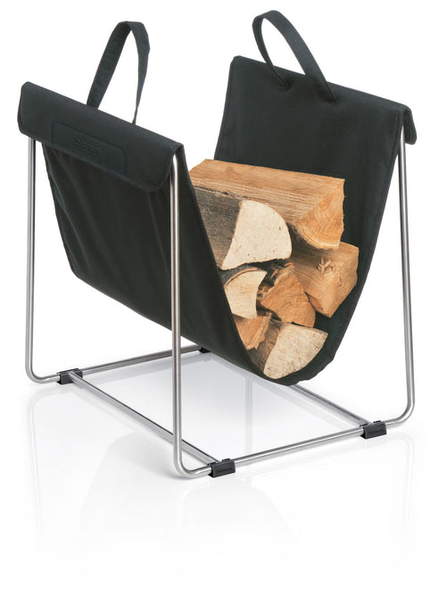 Blomus Stainless Fireplace Log Basket - Black