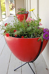 "Fiberglass bullet planter Short 16"" tall"
